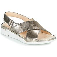 鞋子 女士 凉鞋 Clarks 其乐 Tri Alexia 银灰色
