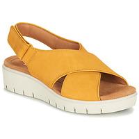 鞋子 女士 凉鞋 Clarks 其乐 UN KARELY SUN 芥末黄