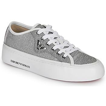 鞋子 女士 球鞋基本款 Emporio Armani X3X109-XL487 银灰色