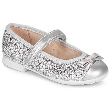 鞋子 女孩 平底鞋 Geox 健乐士 JR PLIE' 银灰色