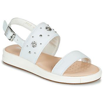鞋子 女孩 凉鞋 Geox 健乐士 J SANDAL REBECCA GIR 白色