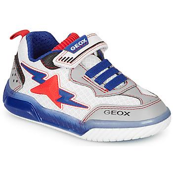 鞋子 男孩 球鞋基本款 Geox 健乐士 J INEK BOY 白色 / 蓝色 / 红色