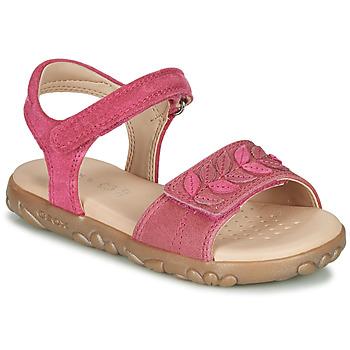 鞋子 女孩 凉鞋 Geox 健乐士 J SANDAL HAITI GIRL 紫红色