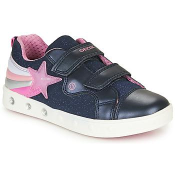 鞋子 女孩 球鞋基本款 Geox 健乐士 J SKYLIN GIRL 海蓝色 / 玫瑰色