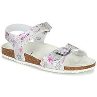 鞋子 女孩 涼鞋 Geox 健樂士 J ADRIEL GIRL 銀灰色