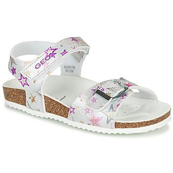 鞋子 女孩 凉鞋 Geox 健乐士 J ADRIEL GIRL 银灰色