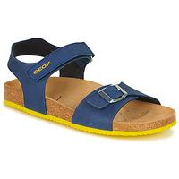 鞋子 男孩 凉鞋 Geox 健乐士 J GHITA BOY 蓝色 / 黄色