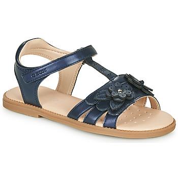 鞋子 女孩 凉鞋 Geox 健乐士 J SANDAL KARLY GIRL 海蓝色