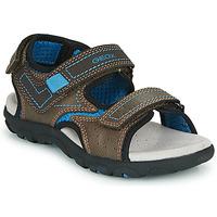鞋子 男孩 运动凉鞋 Geox 健乐士 JR SANDAL STRADA 棕色 / 蓝色
