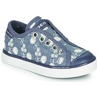 鞋子 女孩 球鞋基本款 Geox 健乐士 JR CIAK GIRL 蓝色 / 白色