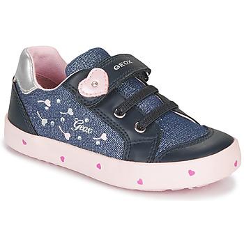 鞋子 女孩 球鞋基本款 Geox 健乐士 B KILWI GIRL 蓝色 / 玫瑰色