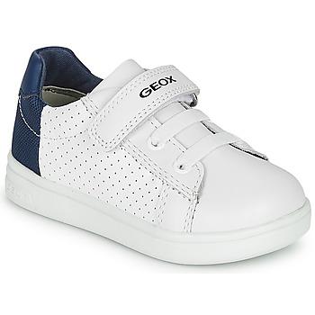 鞋子 男孩 球鞋基本款 Geox 健乐士 B DJROCK BOY 白色 / 蓝色