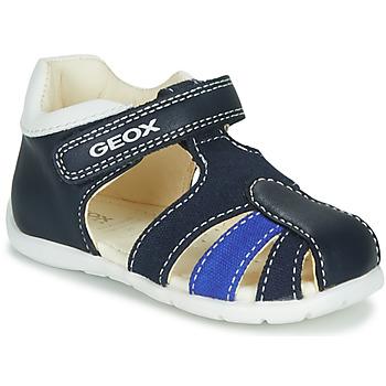 鞋子 男孩 凉鞋 Geox 健乐士 B ELTHAN BOY 海蓝色 / 白色