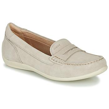 鞋子 女士 皮便鞋 Geox 健乐士 D YUKI 米色
