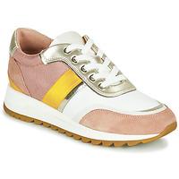 鞋子 女士 球鞋基本款 Geox 健乐士 D TABELYA 玫瑰色 / 白色 / 黄色