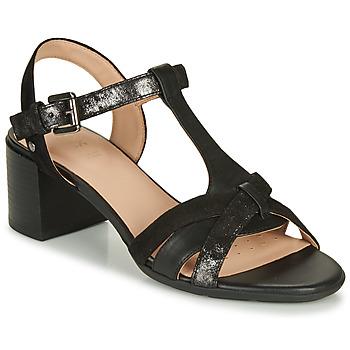 鞋子 女士 凉鞋 Geox 健乐士 D MARYKARMEN MID SAN 黑色