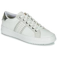 鞋子 女士 球鞋基本款 Geox 健乐士 D PONTOISE 白色 / 银灰色
