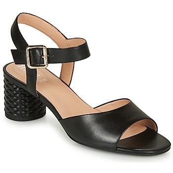 鞋子 女士 凉鞋 Geox 健乐士 D ORTENSIA MID SANDA 黑色
