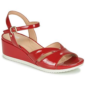 鞋子 女士 球鞋基本款 Geox 健乐士 D ISCHIA 红色