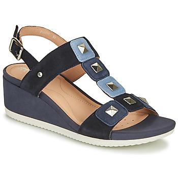 鞋子 女士 凉鞋 Geox 健乐士 D ISCHIA 蓝色
