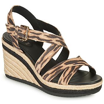 鞋子 女士 凉鞋 Geox 健乐士 D PONZA 棕色 / 黑色