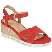 鞋子 女士 凉鞋 Geox 健乐士 D ISCHIA CORDA 红色