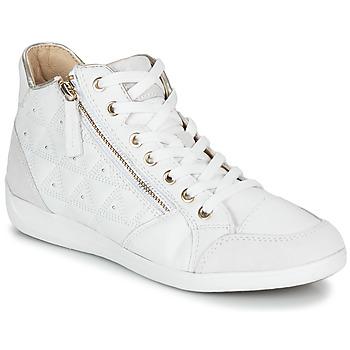 鞋子 女士 高幫鞋 Geox 健樂士 D MYRIA 白色