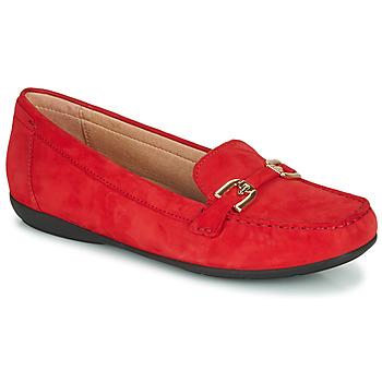 鞋子 女士 皮便鞋 Geox 健乐士 D ANNYTAH MOC 红色 / 金色