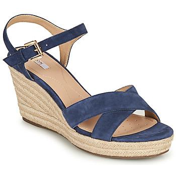 鞋子 女士 凉鞋 Geox 健乐士 D SOLEIL 蓝色