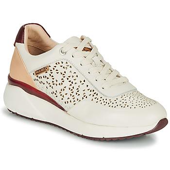 鞋子 女士 球鞋基本款 Pikolinos 派高雁 SELLA W6Z 白色 / 波尔多红