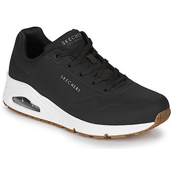 鞋子 女士 球鞋基本款 Skechers 斯凯奇 UNO STAND ON AIR 黑色