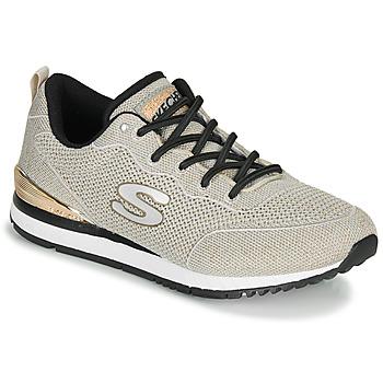 鞋子 女士 球鞋基本款 Skechers 斯凯奇 SUNLITE MAGIC DUST 灰色 / 金色