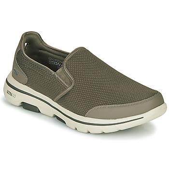 鞋子 男士 平底鞋 Skechers 斯凯奇 GO WALK 5 卡其色