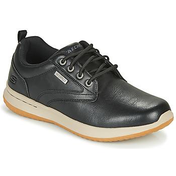 鞋子 男士 球鞋基本款 Skechers 斯凯奇 DELSON ANTIGO 黑色