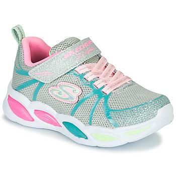 鞋子 女孩 球鞋基本款 Skechers 斯凯奇 SHIMMER BEAMS 银灰色 / 玫瑰色 / 蓝色