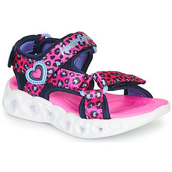 鞋子 女孩 运动凉鞋 Skechers 斯凯奇 HEART LIGHTS 玫瑰色 / 黑色