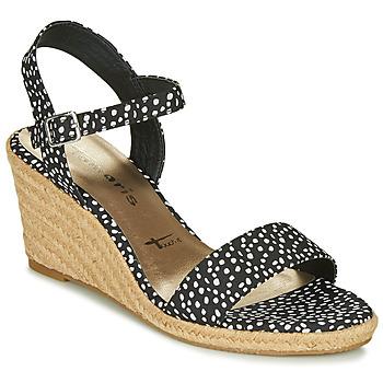 鞋子 女士 凉鞋 Tamaris LIVIA 黑色 / 白色