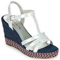 鞋子 女士 凉鞋 Tamaris CYNARA 白色 / 海蓝色 / 红色