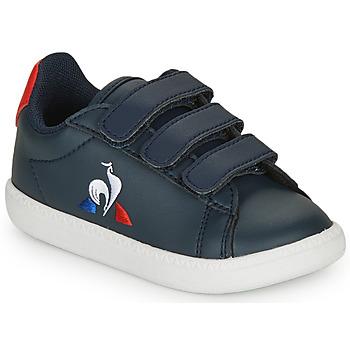 鞋子 儿童 球鞋基本款 Le Coq Sportif 乐卡克 COURTSET INF 海蓝色 / 红色