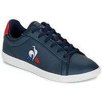 鞋子 儿童 球鞋基本款 Le Coq Sportif 乐卡克 COURTSET GS 海蓝色 / 红色