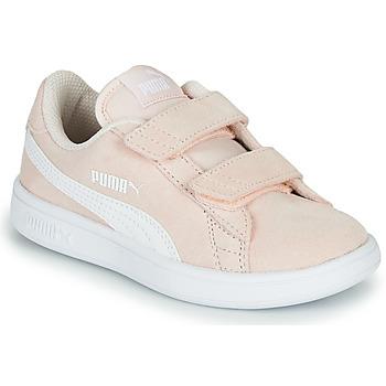 鞋子 儿童 球鞋基本款 Puma 彪马 Puma Smash v2 SD V PS 玫瑰色
