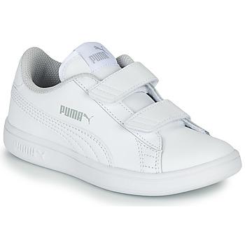 鞋子 儿童 球鞋基本款 Puma 彪马 Puma Smash v2 L V PS 白色
