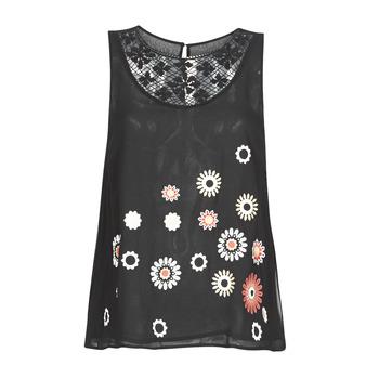 衣服 女士 无领短袖套衫/无袖T恤 Desigual TEBAS 黑色