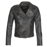衣服 女士 皮夹克/ 人造皮革夹克 Desigual UTAH 黑色