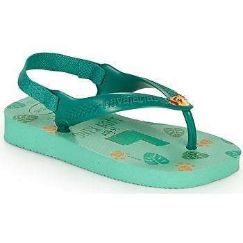 鞋子 儿童 人字拖 Havaianas 哈瓦那 BABY DISNEY CLASSICS II 绿色