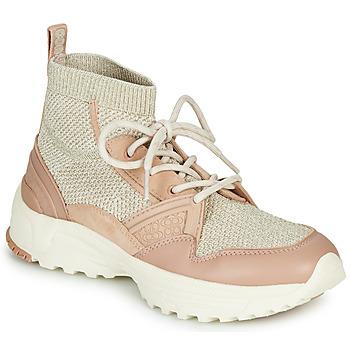 鞋子 女士 高帮鞋 Coach C245 RUNNER 玫瑰色 / 裸色 / 银灰色
