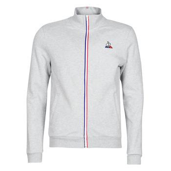 衣服 男士 运动款外套 Le Coq Sportif 乐卡克 ESS FZ Sweat N°2 M 灰色 / 中国红