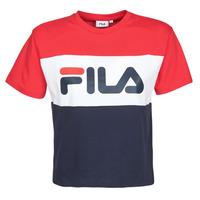 衣服 女士 短袖体恤 Fila ALLISON 海蓝色 / 红色 / 白色