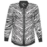 衣服 女士 衬衣/长袖衬衫 Ikks BQ12105-03 黑色 / 白色