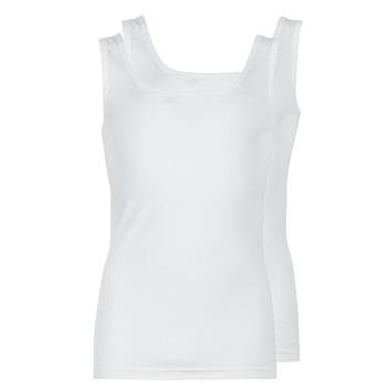 衣服 男士 无领短袖套衫/无袖T恤 Athena COTON BIO 白色